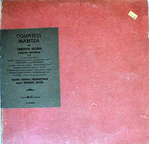 "Countess Maritza Vinyl 12"""