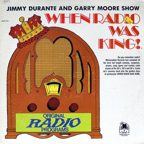 """Jimmy Durante And Garry Moore Show Vinyl 12"""""""