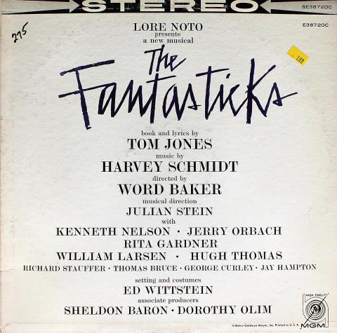 "A New Musical: The Fantasticks Vinyl 12"""