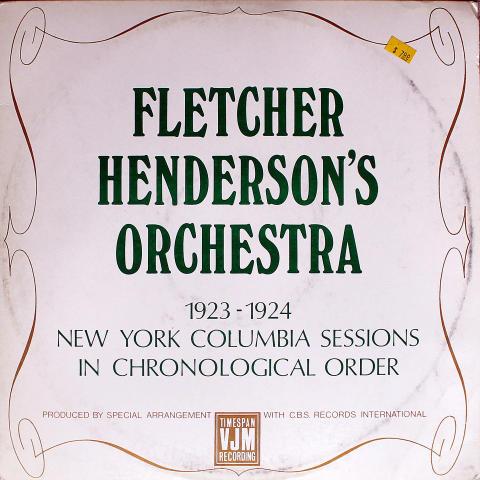 "Fletcher Henderson's Orchestra Vinyl 12"""