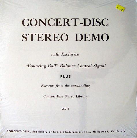"""Concert-Disc Stereo Demo Vinyl 12"""""""