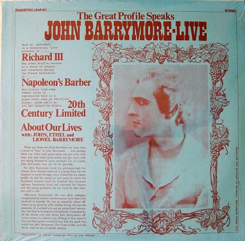 """John Barrymore Vinyl 12"""""""
