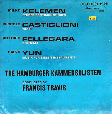 "Milko Kelemen / Niccolo Castiglioni / Vittorio Fellegara / Isang Yun Vinyl 12"""