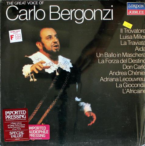 "Carlo Bergonzi Vinyl 12"""