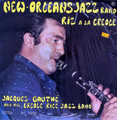 """Jacques Gauthe And His Creole Rice Jazz Band Vinyl 12"""""""