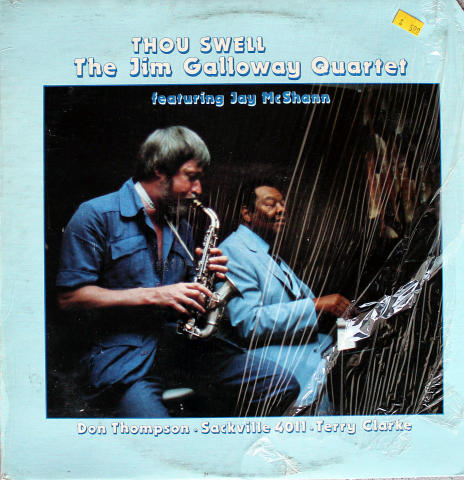 "The Jim Galloway Quartet Vinyl 12"""