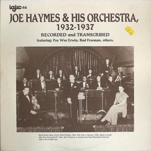 """Joe Haymes & His Orchestra Vinyl 12"""""""