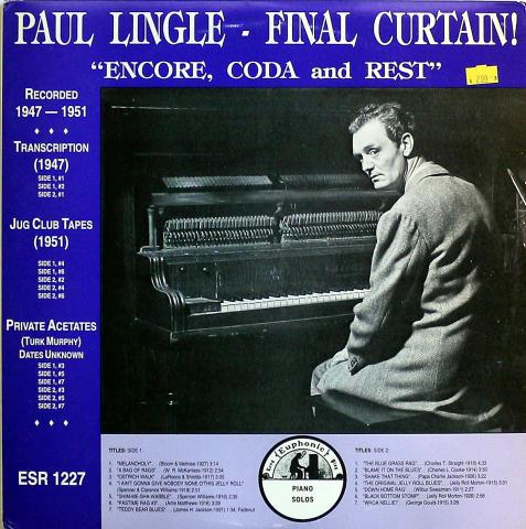 """Paul Lingle Vinyl 12"""""""