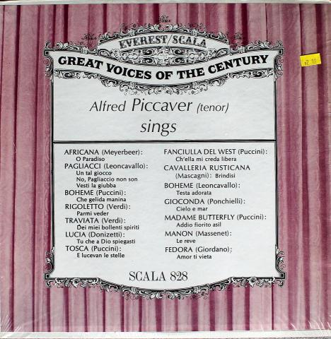 "Alfred Piccaver Vinyl 12"""