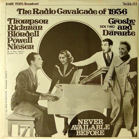 """The Radio Cavalcade Of 1936 Vinyl 12"""""""