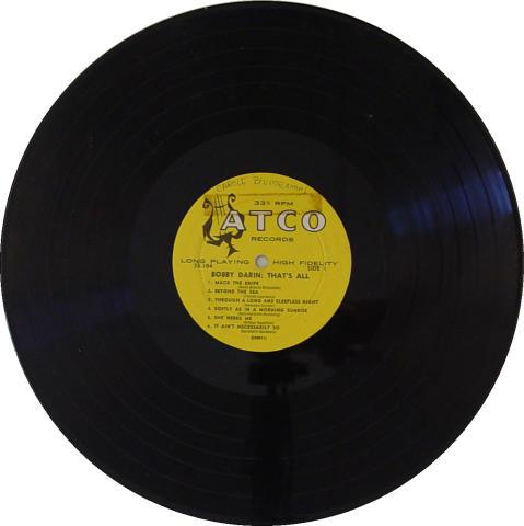 "Bobby Darin Vinyl 12"""