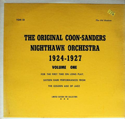 "The Original Coon-Sanders Nighthawk Orchestra Vinyl 12"" (Used)"