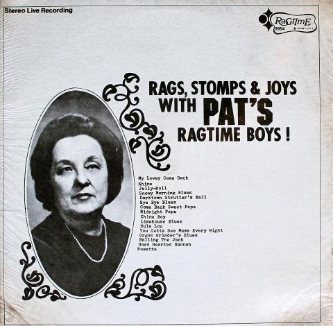 "Pat's Ragtime Boys! Vinyl 12"""