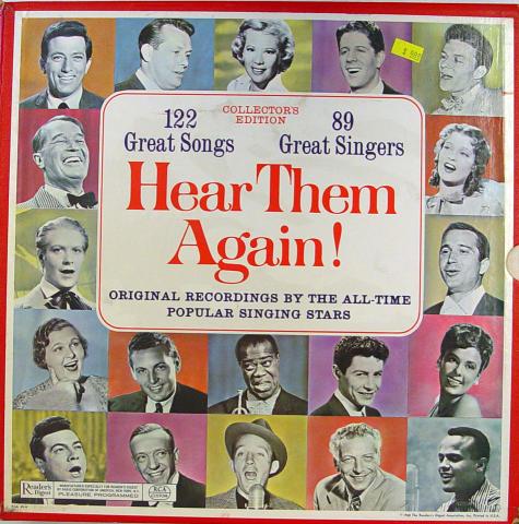 "Reader's Digest: Hear Them Again! Vinyl 12"""