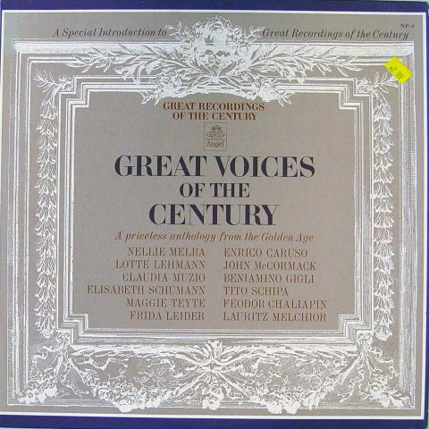 "Great Voices Of The Century Vinyl 12"""