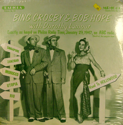 "Bing Crosby / Bob Hope Vinyl 12"""