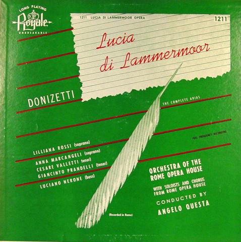 "Donizetti: Lucia Di Lammermoor / The Complete Arias Vinyl 12"""