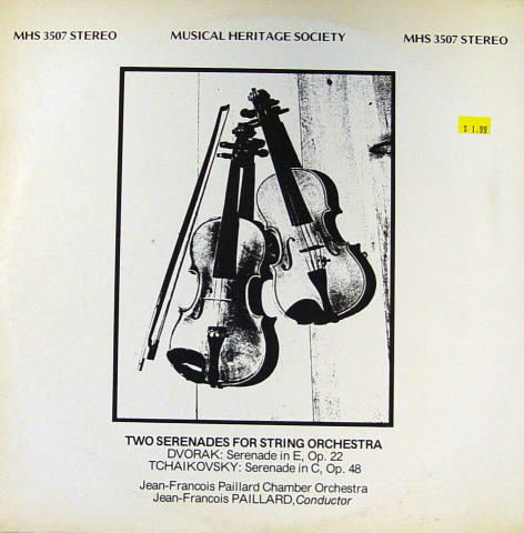 Two Serenades For String Orchestra Vinyl 12""