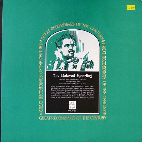 """The Beloved Bjoerling Volume Three: Opera Arias 1936-1946 Vinyl 12"""""""