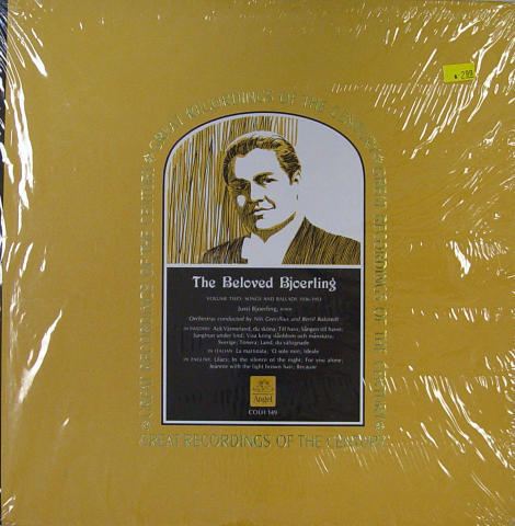 """The Beloved Bjoerling Volume Two: Opera Arias 1936-1954 Vinyl 12"""""""