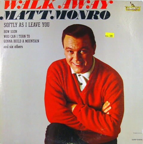 "Matt Monro Vinyl 12"""