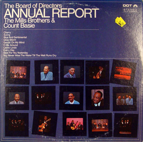 """The Mills Brothers & Count Basie Vinyl 12"""""""