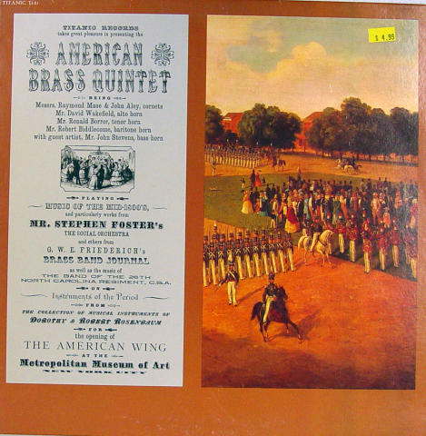 "American Brass Quintet Vinyl 12"""