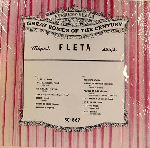 """Miguel Fleta Vinyl 12"""""""