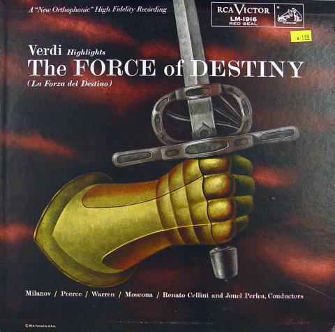 "Verdi Highlights: The Force Of Destiny (La Forza Del Destino) Vinyl 12"""