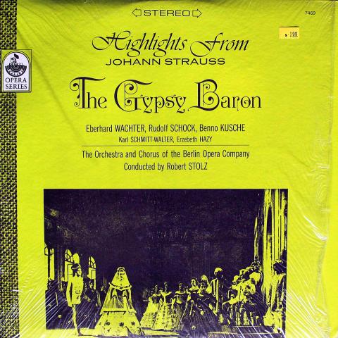 "Highlights From Johann Strauss The Gypsy Baron Vinyl 12"""