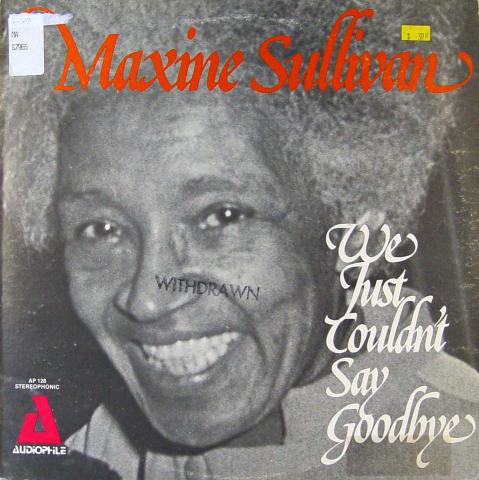 """Maxine Sullivan Vinyl 12"""""""