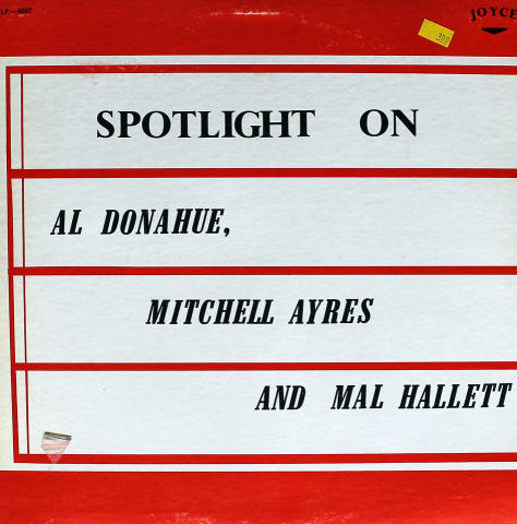 "Al Donahue / Mitchell Ayres / Mal Hallett Vinyl 12"""