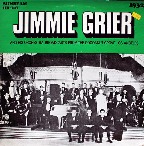 Jimmie Grier And His Orchestra Vinyl 12""
