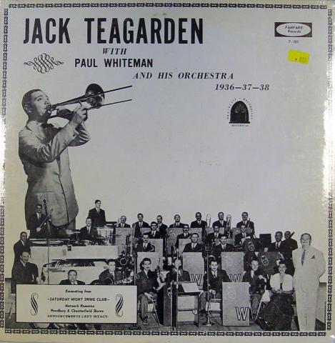 """Jack Teagarden/ Paul Whiteman Vinyl 12"""""""