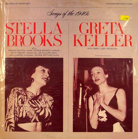 """Stella Brooks / Greta Keller Vinyl 12"""""""