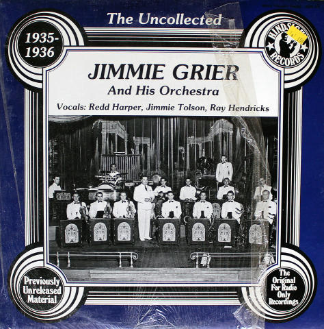 """Jimmie Grier And His Orchestra Vinyl 12"""""""