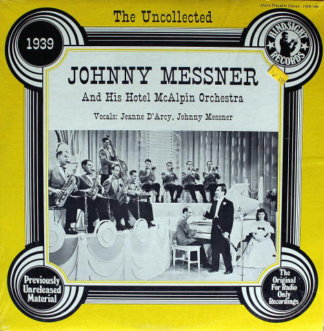"""Johnny Messner And His Hotel McAlpin Orchestra Vinyl 12"""""""