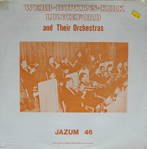 Webb-Hopkins-Kirk-Lunceford And Their Orchestras Vinyl 12""