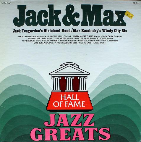 "Jack Teagarden / Max Kaminsky Vinyl 12"""