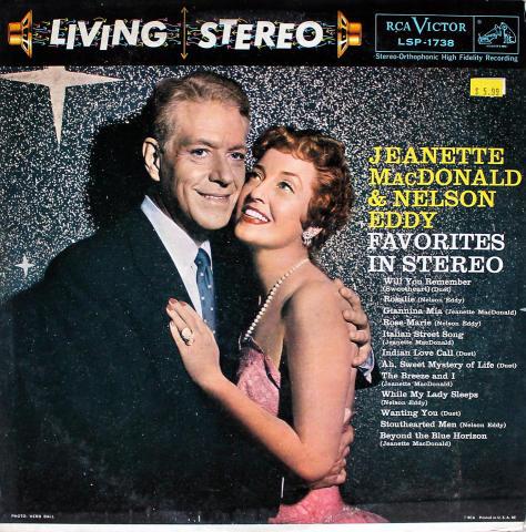 "Jeanette MacDonald & Nelson Eddy Vinyl 12"""