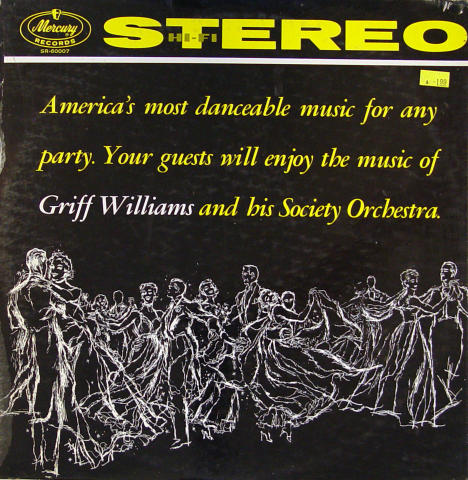 """Griff Williams And His Society Orchestra Vinyl 12"""""""
