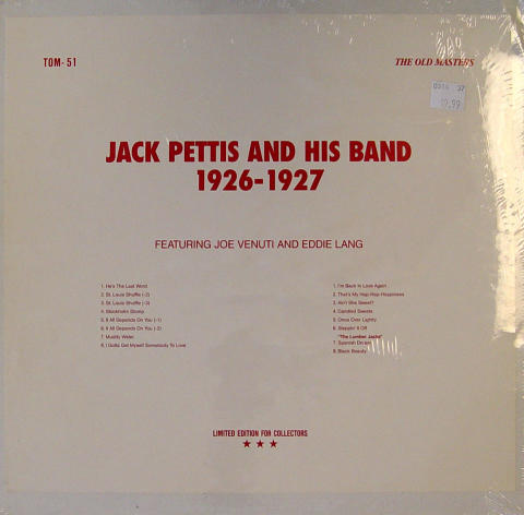 """Jack Pettis And His Band Vinyl 12"""""""