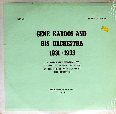 "Gene Kardos And His Orchestra Vinyl 12"""