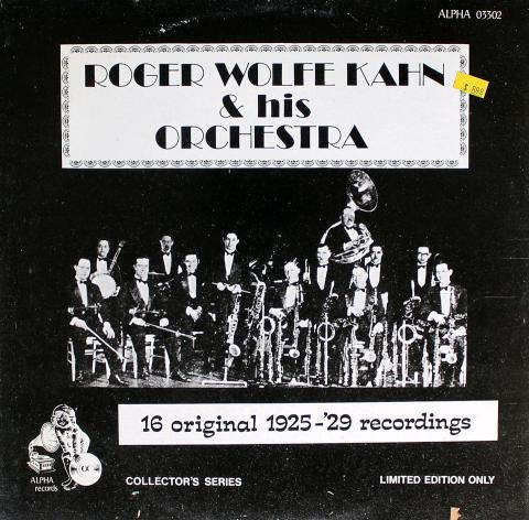 "Roger Wolfe Kahn & His Orchestra Vinyl 12"""