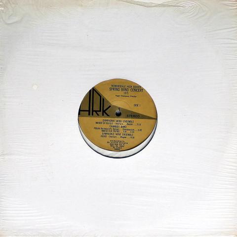 "Robbinsdale High School Spring Band Concert: 1975 Vinyl 12"""