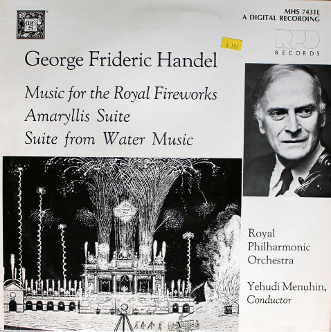 "George Frideric Handel Vinyl 12"""