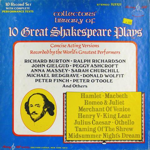 """10 Great Shakespeare Plays Vinyl 12"""""""