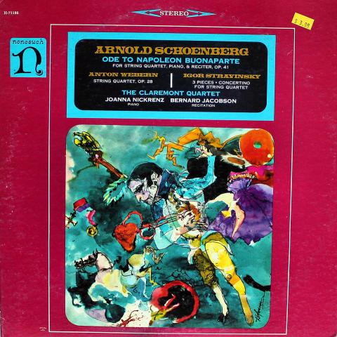"Arnold Schoenberg / Anton Webern / Igor Stravinsky Vinyl 12"""