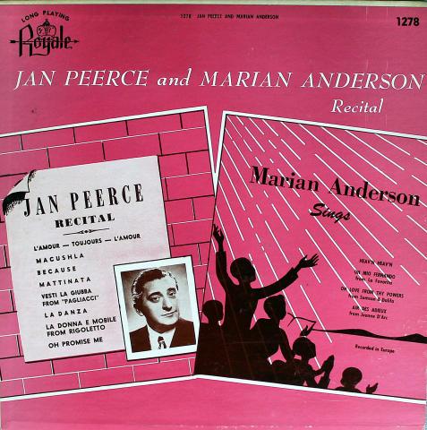 """Jan Peerce / Marian Anderson Vinyl 12"""""""