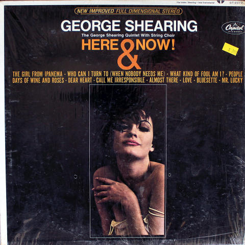 """The George Shearing Quintet With String Choir Vinyl 12"""""""